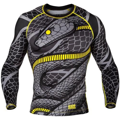 Рашгард Venum Snaker Sleeves(V-02970-111) Black Yellow р. L